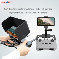 Sunnylife Remote Controller Mobile Phone Holder with Sun Hood Full Screen Smartphone Holder for Mavic Air 2/ Mini/ Pro/ 2/ Air/ Spark