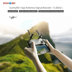 Sunnylife 2Pcs Yagi Antenna 5.8Ghz Drone Remote Controller Signal Booster Range Extender for Mavic Mini/ Mavic 2/Mavic Air/Spark/Smart Controller