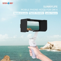 Sunnylife Mobile Phone Sun Hood Foldable Magnetic Sunshade Leather Hood for OM 4
