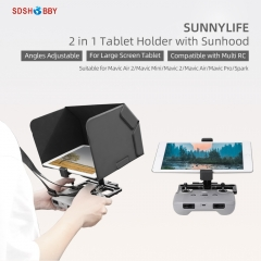 Sunnylife Remote Controller Tablet Holder with Sun Hood Neck Strap Adjustable Angle for Mini 2/Mavic Air 2/2S/Mini/Pro/2/Air/Spark