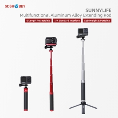 Sunnylife Aluminum Alloy Extension Rod Handheld Retractable Selfie Stick for POCKET 2/Insta360 One X2/GoPro 9/OM 4/Insta360 One R