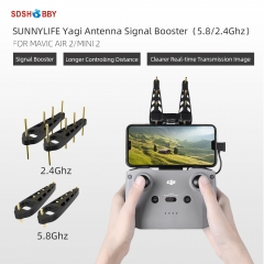 Sunnylife 2Pcs Yagi Antenna 5.8Ghz/2.4 Ghz Drone Remote Controller Signal Booster Range Extender for Mavic Air 2/2S/Mini 2