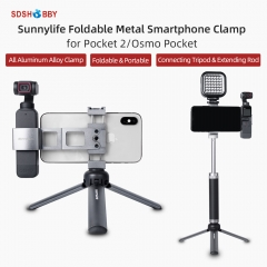 Sunnylife Metal Smartphone Clamp Mount Foldable Holder for POCKET 2/OSMO POCKET