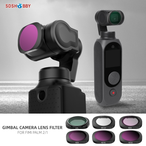 Sunnylife Lens Filter Set MCUV CPL ND4 ND8 ND16 ND32 for FIMI PALM 2/1 Gimbal Camera