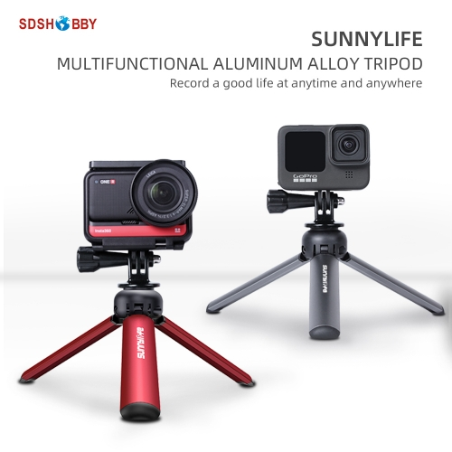 Sunnylife Tabletop Tripod Mini Aluminum Alloy Selfie Stick for POCKET 2/OM 4/FIMI PALM 2/Insta360 One X2/GoPro Hero 9/Osmo Action/Camera